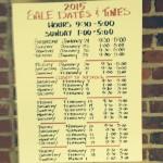 Bulluck Sale Schedule 2015